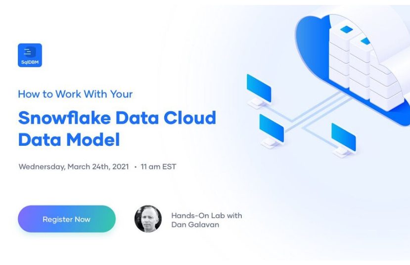 SQLDBM Data Modeler and Snowflake Data Cloud